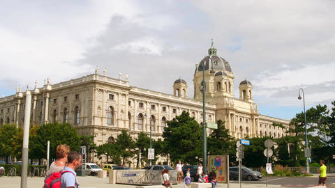 VIENNA, AUSTRIA - AUGUST 12, 2017. The Kunsthistorisches Museum or the Museum of Footage