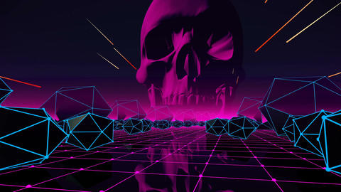 VJ Abstract Loop with skull for your event, concert, presentation, music videos Animation