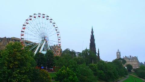 Ferris Wheel and the Scott Monument Image