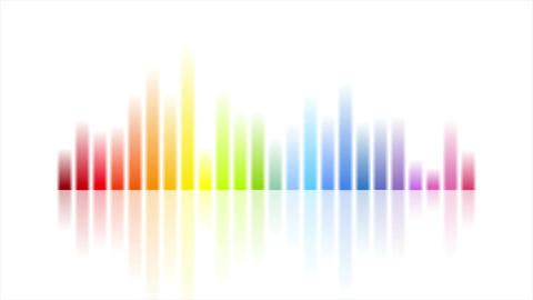 Rainbow colors musical equalizer video animation Animation
