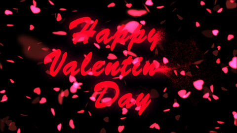 Happy Valentine's Day Red Text. Valentine's day abstract background,flying Image