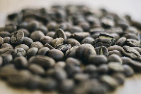 Coffee beans medium roast, fresh 100% specialty coffee arabica whole bean, Fotografía