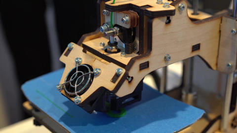 Three dimensional printer during work, 3D printing Footage