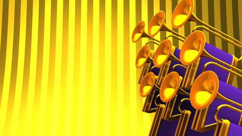 Fanfare On Gold Text Space CG動画