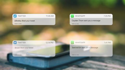 Social Media Messages Premiere Pro Template