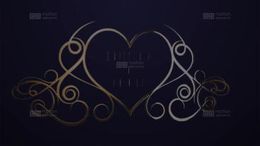 Luxury Golden Wedding titles After Effectsテンプレート