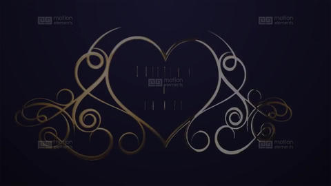 Luxury Golden Wedding titles After Effects Template