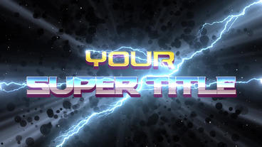 Superhero movie titles After Effects Templates