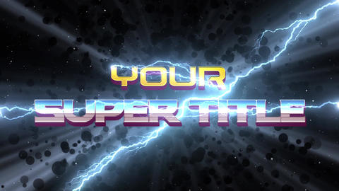 Superhero Movie Titles After Effects Template