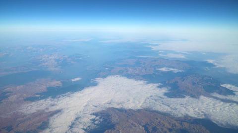 Satellite View Of Planet Earth Horizon Filmmaterial
