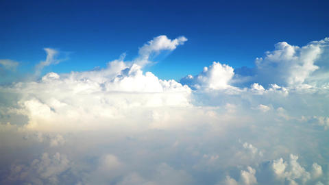 Flying Above Beautiful Earth Clouds And Blue Sky Image