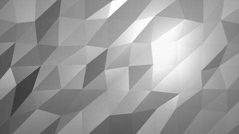 White Low Poly Abstract Background. Seamlessly Loopable Animation