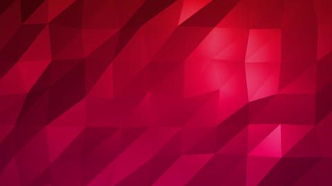 Red Low Poly Abstract Background. Seamlessly Loopable Animation