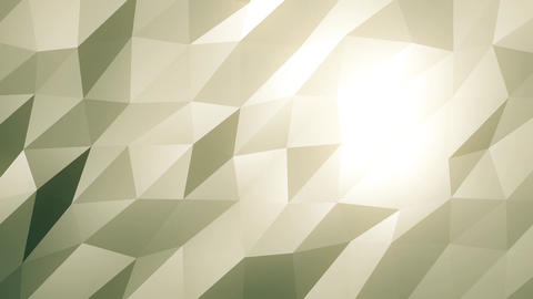 Cream Low Poly Abstract Background. Seamlessly Loopable Animation