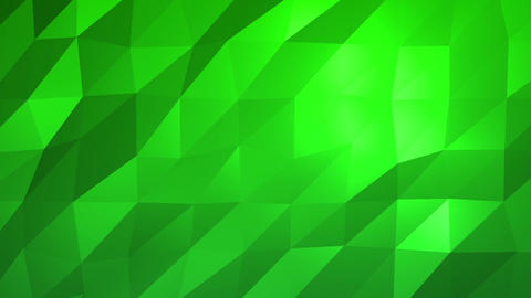 Green Low Poly Abstract Background. Seamlessly Loopable Animation