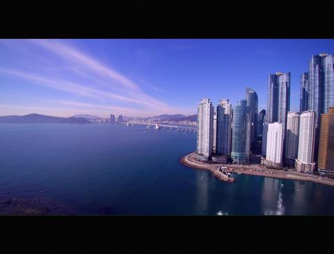 MarineCity to Gwangalli Beach in Korea ビデオ