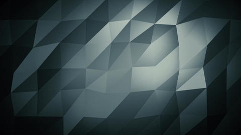 Dark Blue Low Poly Abstract Background. Seamlessly Loopable Animation