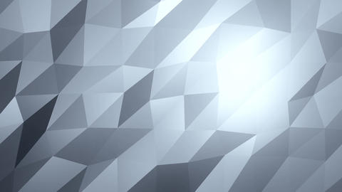 Cyan Low Poly Abstract Background. Seamlessly Loopable Animation