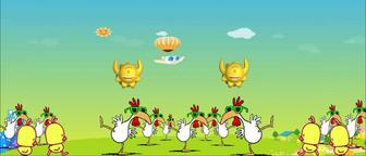 chicken dancing animation儿童卡通童趣小鸡小鸡舞蹈舞台背景 ビデオ