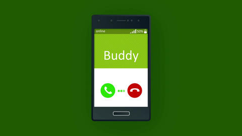 Humorous animated mobile phone calling Animation