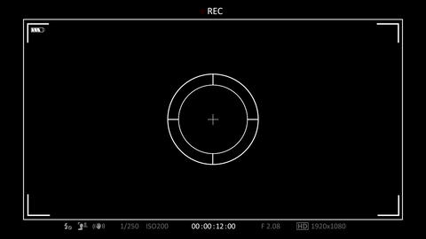 Camera View Finder 9 Stock Video Footage