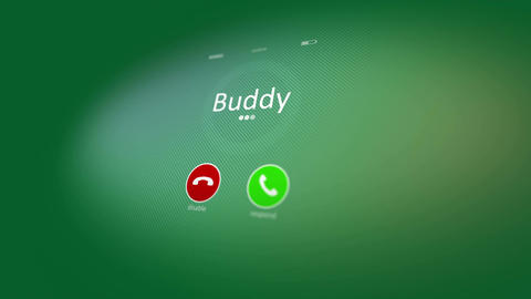 Cheerful animated mobile phone calling Animation