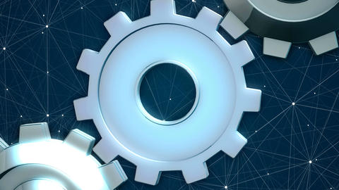 Free Footage - Abstract loopable graphics with the rotating gears Animation