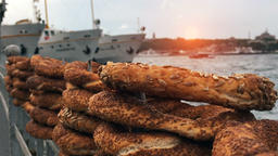 Turkish Simit - Istanbul Karakoy Sunset Bosphorus 画像