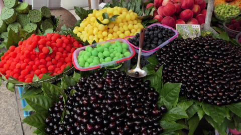 Stall At Market Selling Fruit And Food Suzhou China Asia Archivo