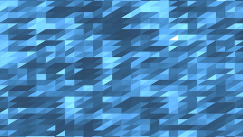 Blue Geometric Background Loopable Animation 4K Stock Video Footage