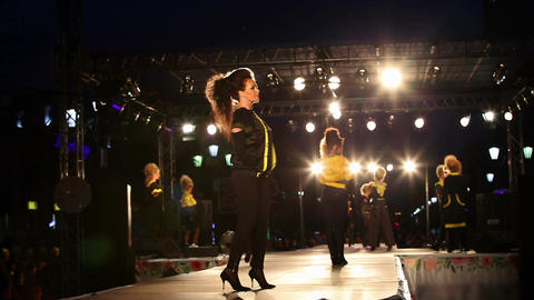 """Fashion show during the festival """"City Day"""" Footage"""
