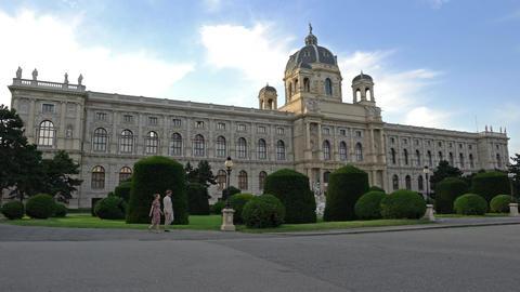 Naturhistorisches Museum in Vienna Footage