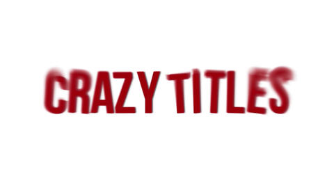 CRAZY TITLES After Effectsテンプレート
