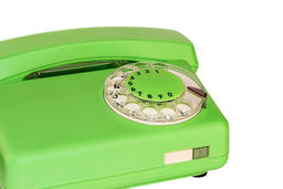 Telephone with a dial pad フォト
