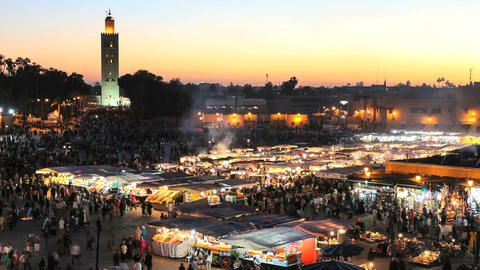 Djemaa el fna in marrakech, morocco Footage