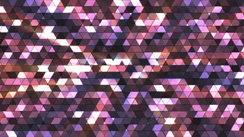 Broadcast Twinkling Squared Hi-Tech Triangles, Purple, Abstract, Loopable, 4K Animation