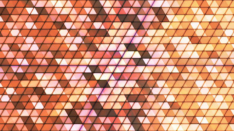 Broadcast Twinkling Cubic Hi-Tech Triangles, Brown, Abstract, Loopable, 4K Animation