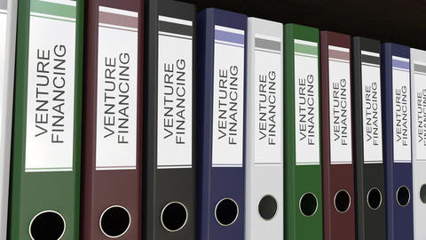 Office binders with Venture financing tags Footage