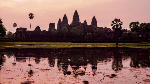 Morning light at Angkor Wat Footage