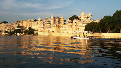 View of the Palace in Udaipur Footage