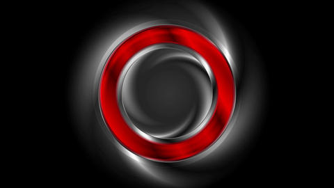 Red glossy ring on black background video animation Animation