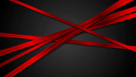 Abstract glossy red stripes on black background video animation Animation
