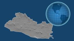 El Salvador and Globe. Bumps Animation