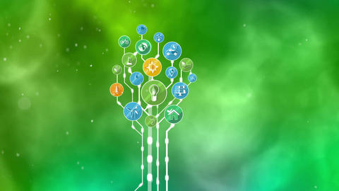 Ecological Icons Tree Animation