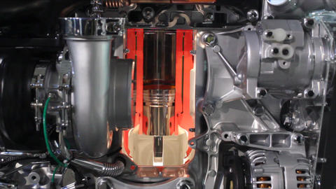 Heavy Truck Engine Detail stock footage