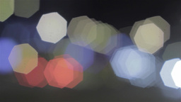 Colored Headlights From Cars Per Night 121 stock footage