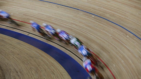 blurred motion bicycle race Live Action