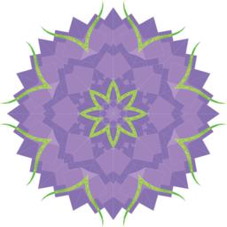 Abstract purple flower Vector