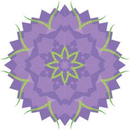 Abstract purple flower Vektor
