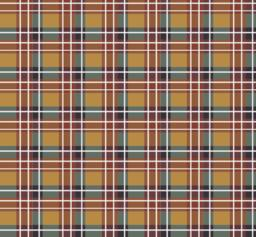 Brown plaid fabric Vector